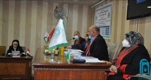 كلية التربية الأساسية بجامعة الكوفة تناقش رسالة ماجستير بعنوان ( د. سعيد عدنان المحنة مقالياً وناقداً )